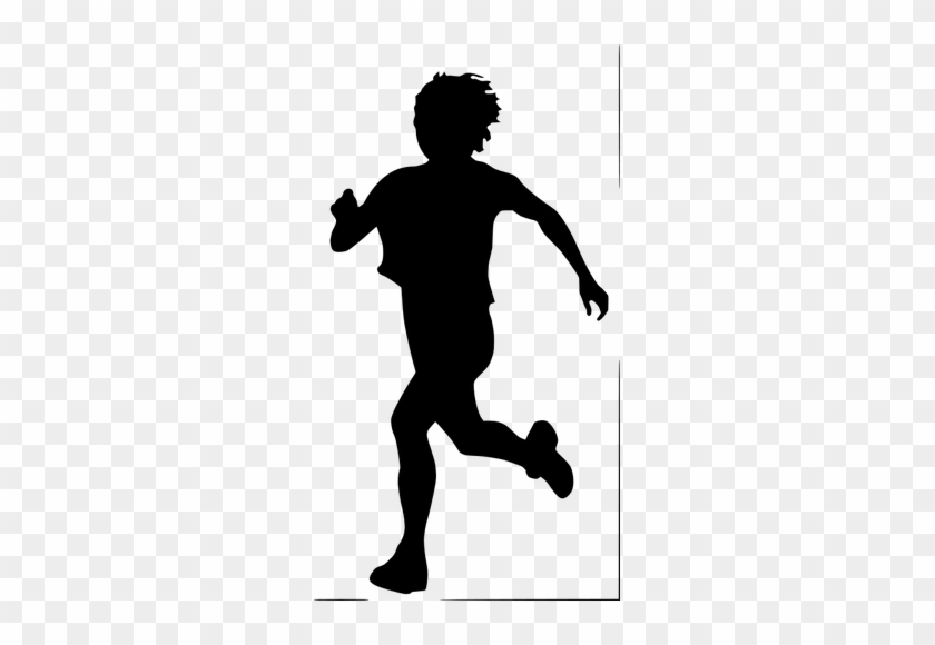 Gehender Mensch Clipart - Kid Run Silhouette #63887