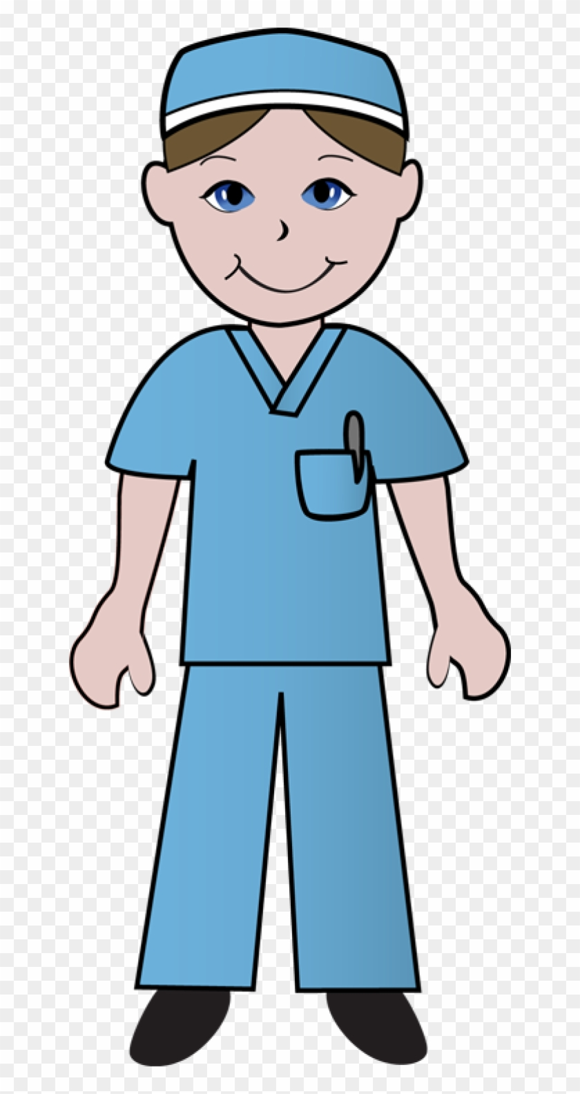 Medical - Male Nursing Clip Art #63926