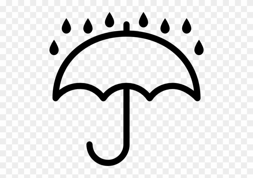 Weather Rain Umbrella 4568 - Keep Dry Icon Vector #63989