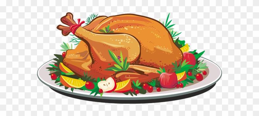 Christmas Turkey Dinner Clipart - Thanksgiving Turkey Dinner Clipart #64217