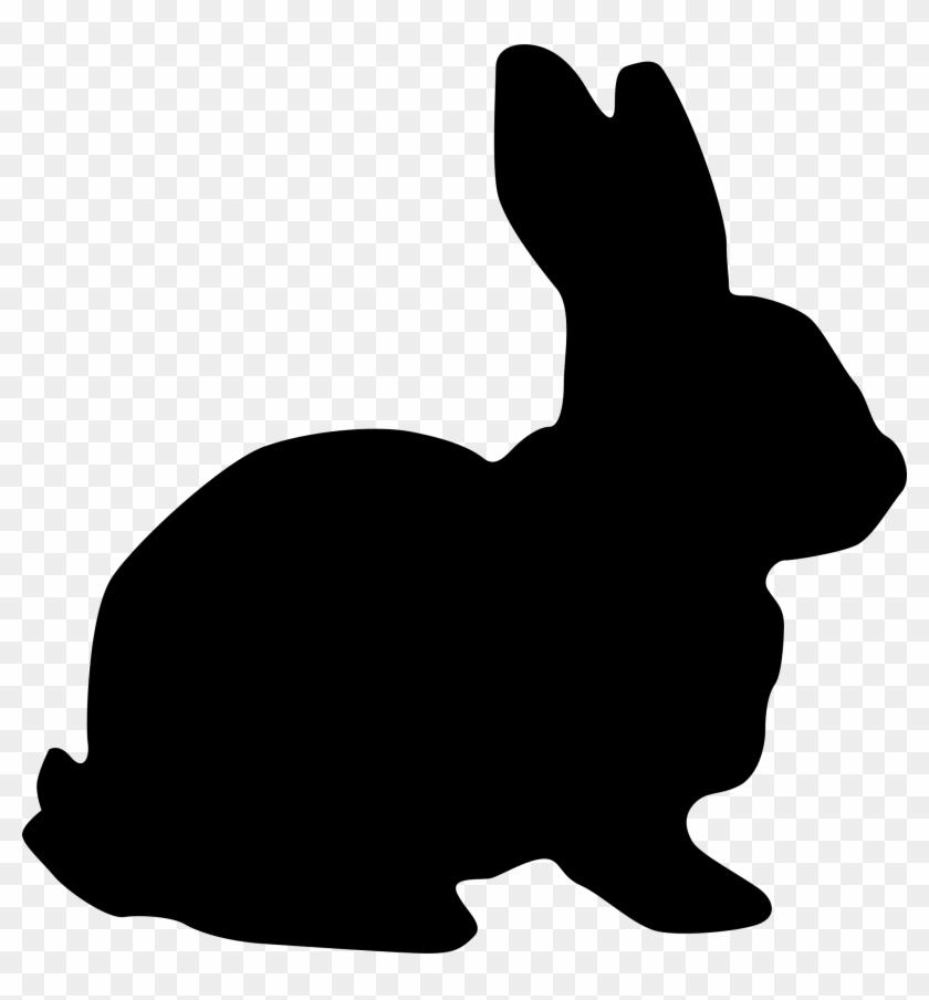 Rabbit Silhouette Vector Clipart Image - Rabbit Silhouette #64234
