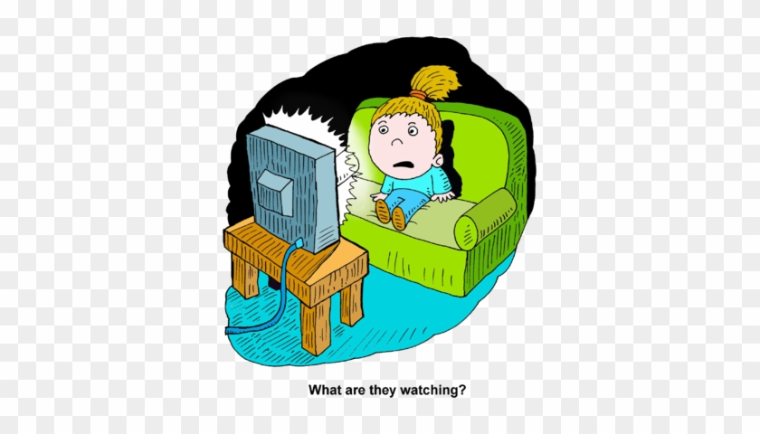 Movie Night Clipart Hostted - Watching Tv At Night Clipart #64259
