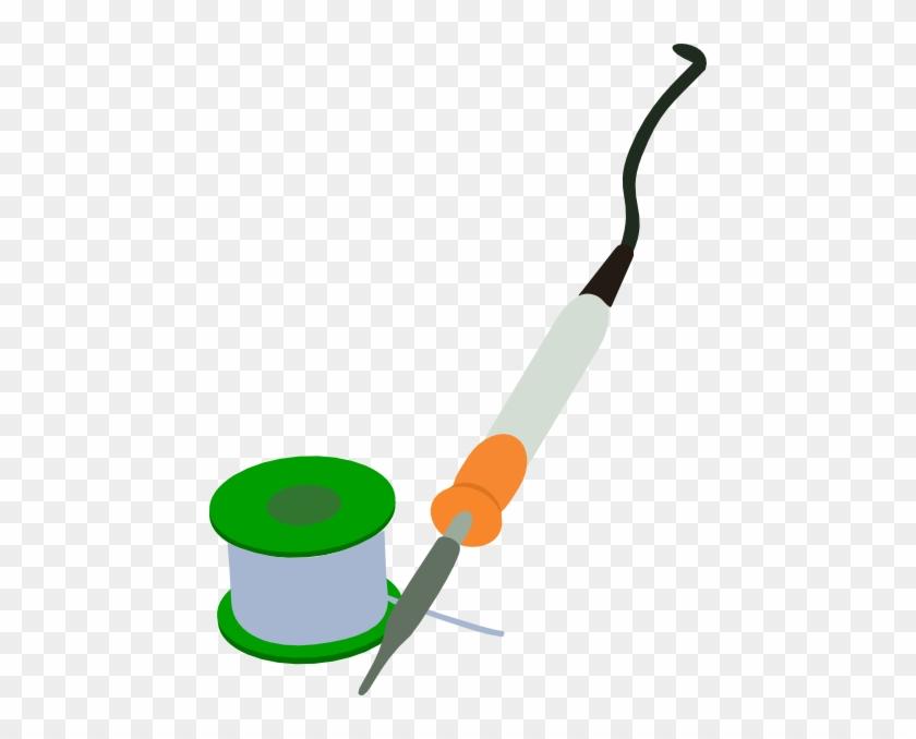 Electric Soldering Iron Solder Reel Clip Art - Soldering Iron Clip Art #64274