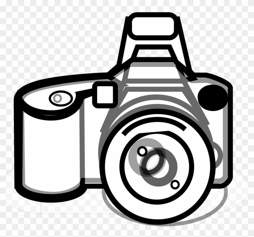 Camera Clipart Black And White - Black And White Camera #64318