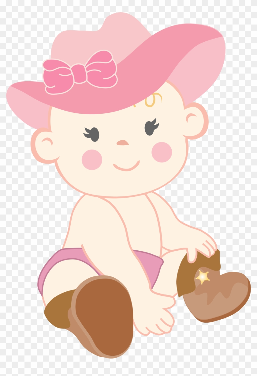 Western Theme Baby Shower Cake Clipart - Cowgirl Baby Shower Clipart #64364