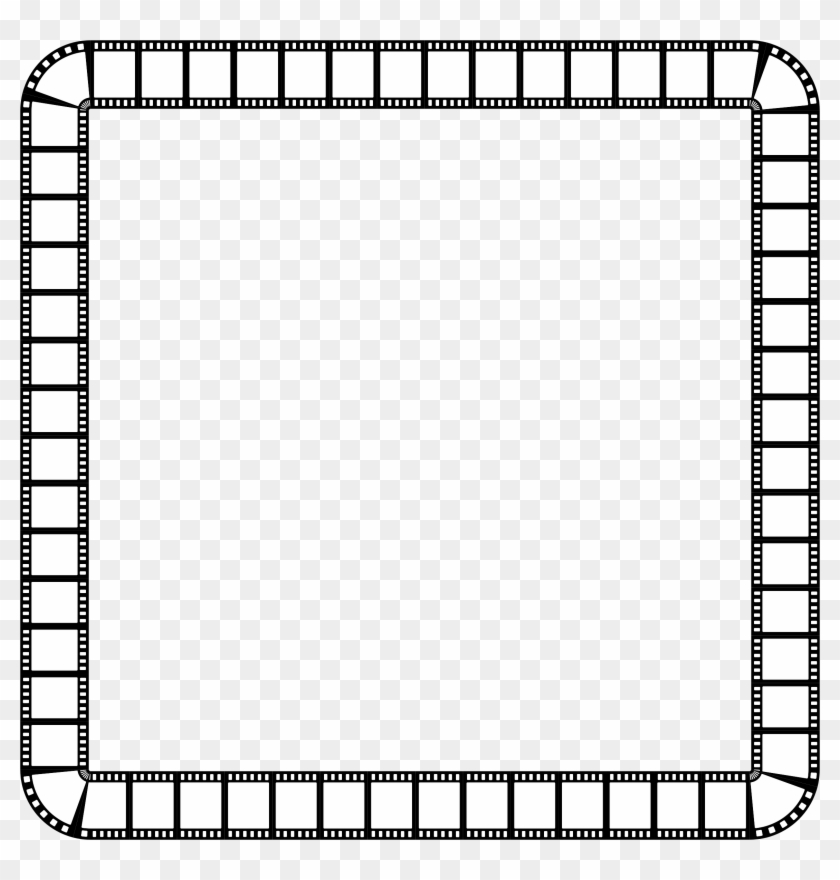 Clipart Film Strip Square Frame - Square Frame Black And White ...
