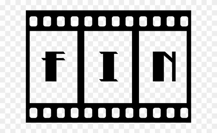 End, Film, Filmstrip, Slide, Motion Picture, Movie - Queen Duvet Cover Fin: Old Hollywood Movie Ending #64468