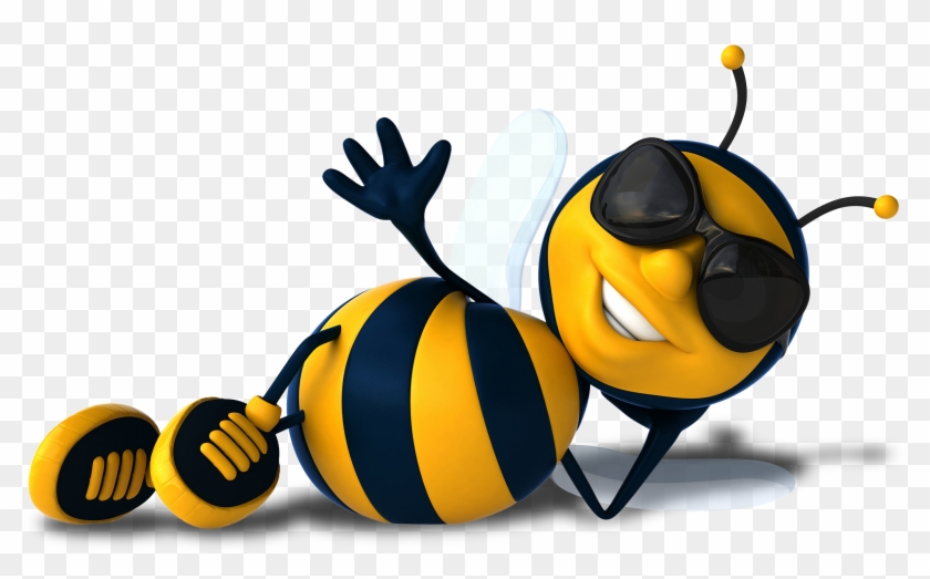 Clipart For U - Cartoon Bee With Sunglasses #64484