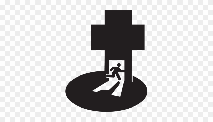 Running With The Cross Free Christian Clip Art - Running To The Cross Clipart #64480