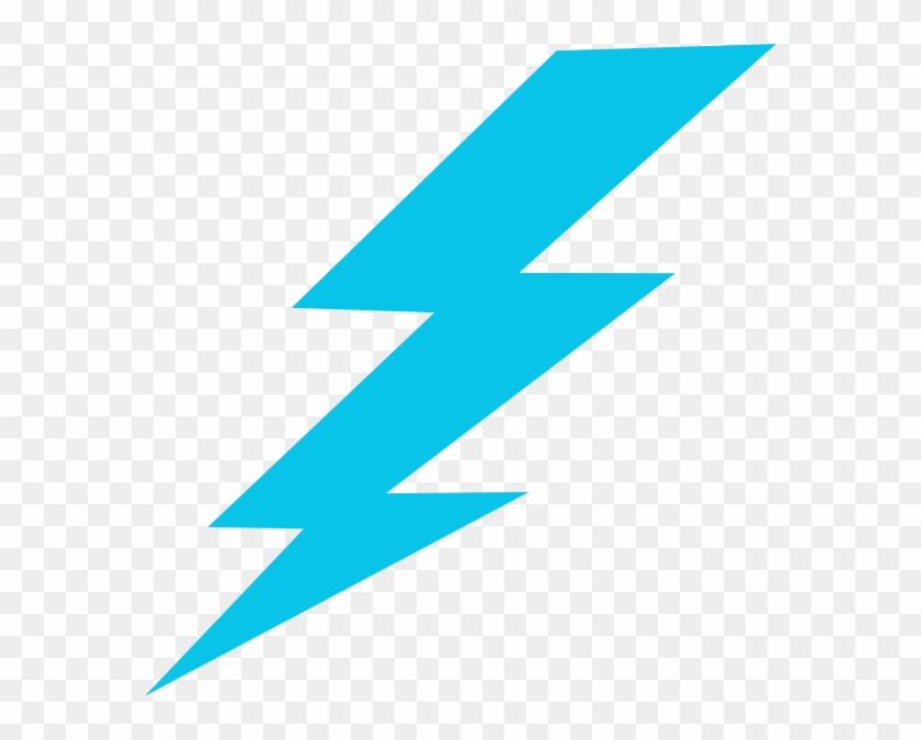 Blue Lightning Bolt Clipart - Thunder Png - Free Transparent