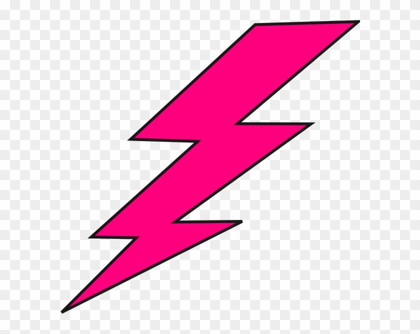 Hot Pink Lightning Bolt #64592