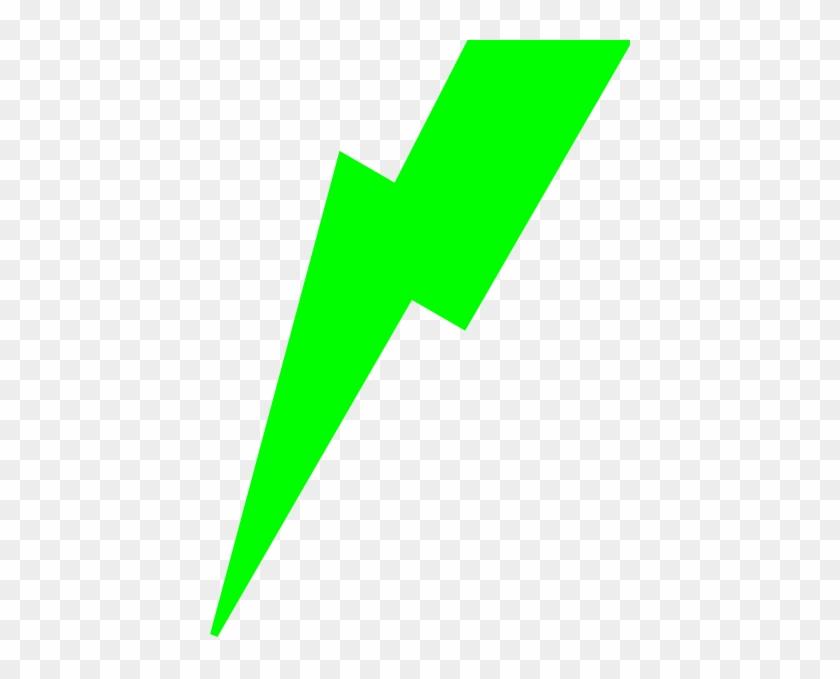 Green Lightning Bolt Clip Art At Clker - Lime Green Lightning Bolt #64598