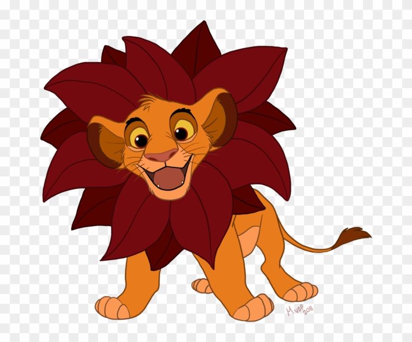 Simba By Sketchinthoughts Simba By Sketchinthoughts - Simba With Leaf Mane #64644