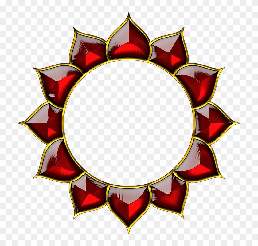 Chakra Lotus Yantra Spiritual Design Red G - Cakra Png #64701