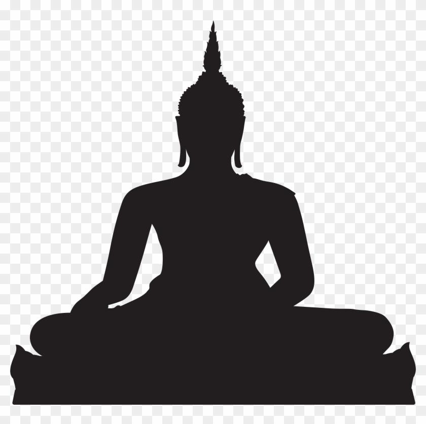 Black Buddha Silhouette Png Clip Art - Black Buddha Silhouette Png Clip Art #64727