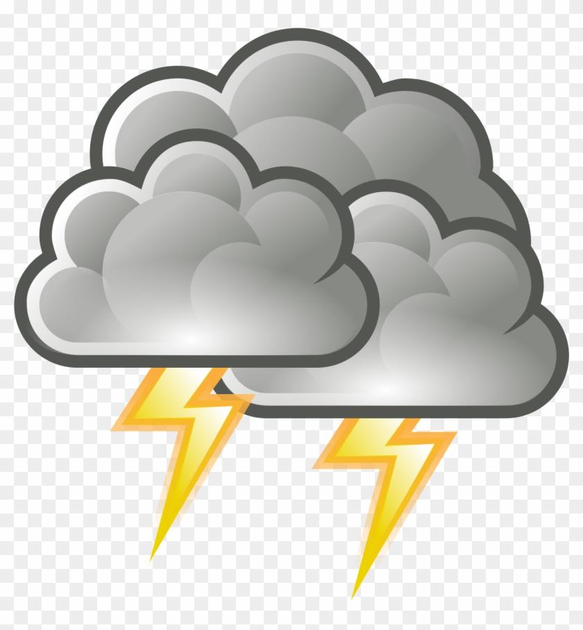 Storm Cloud Clip Art - Weather Symbols Storm #64733