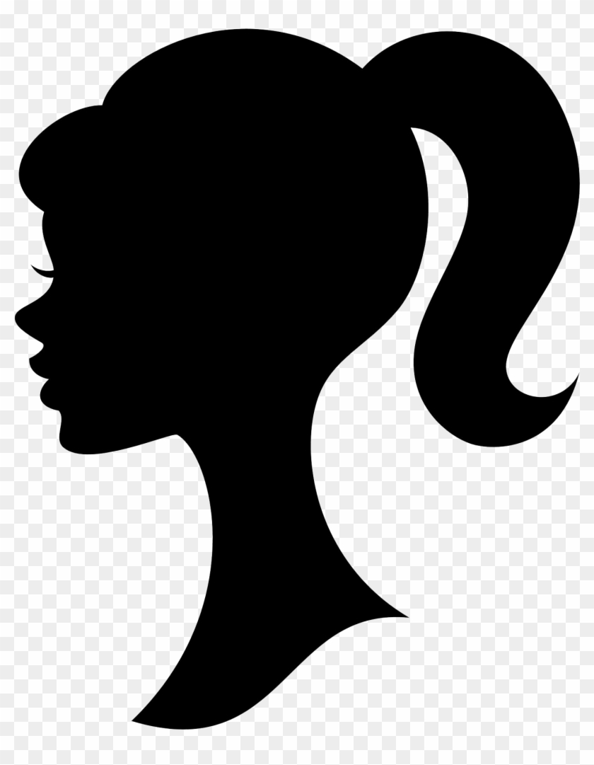 28 Collection Of Woman Head Clipart Silhouette - Ponytail Clipart #64754