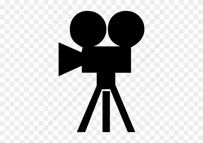 Classica Movie Camera Icon Style - Movie Icon Red Png #64760