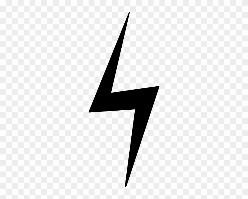 Straight Down Black Lightning Bolt Clip Art