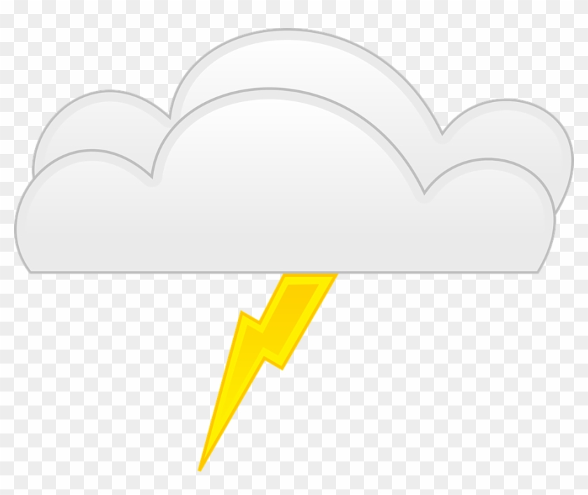 Lightning Bolt Yellow Cloud Weather Thunder Power - Thunder Cartoon #64774