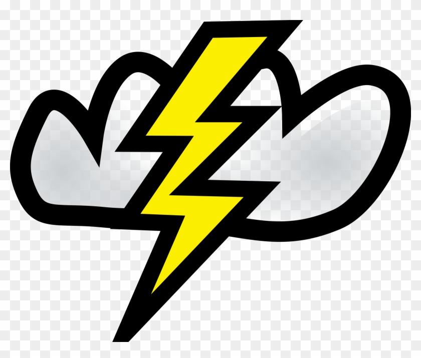 Black Thunder Clipart - Lightning Bolt Clipart #64778