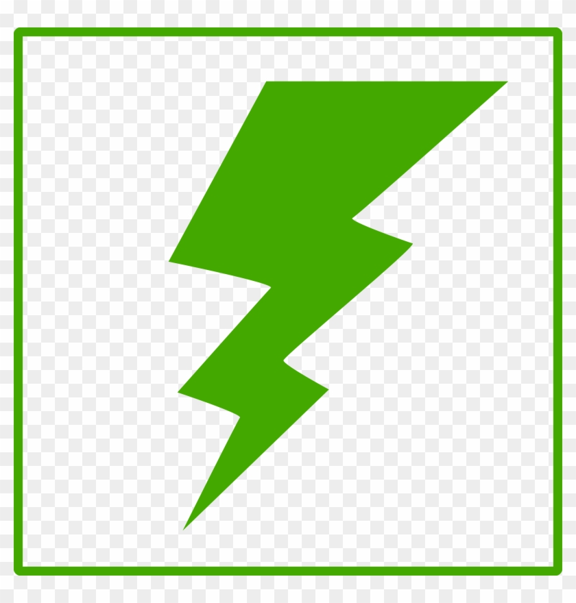 Green Lightning Bolt Clipart #64787