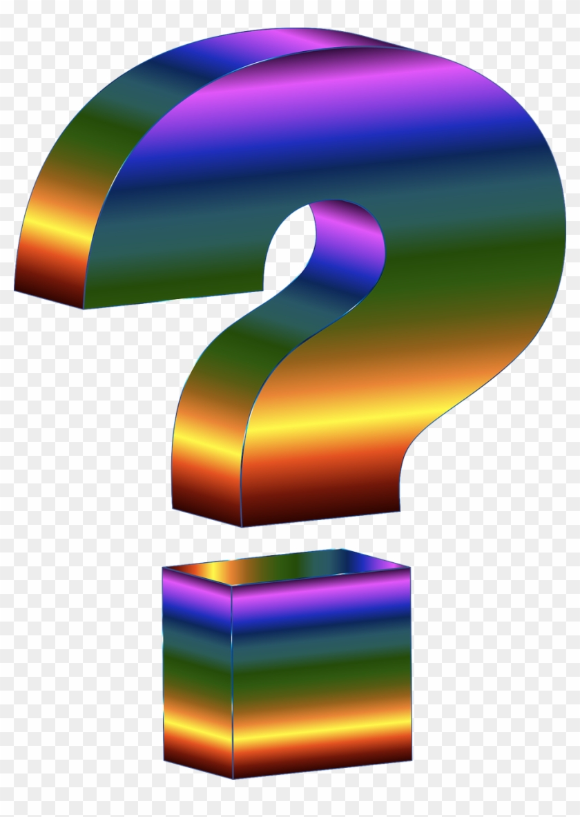 Prismatic Eye Lightning Bolt Clipart - Rainbow Question Mark Gif #64799