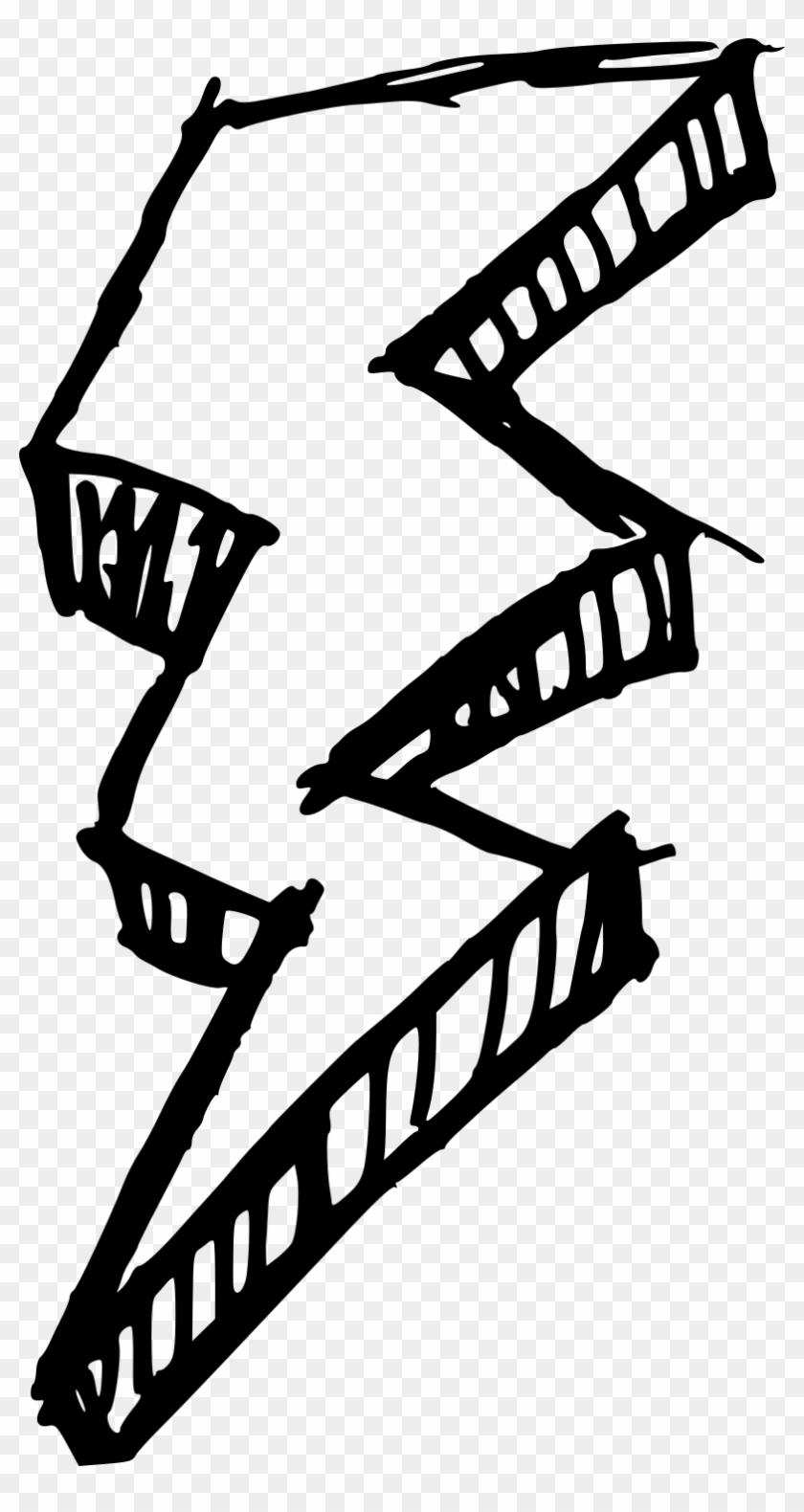 Lightning Bolt Silhouette - Drawing Lightning Bolt Png #64802