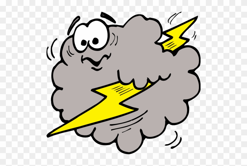 Free Clip Art Of Lightning Clipart - Cloud With Lightning Clipart #64817