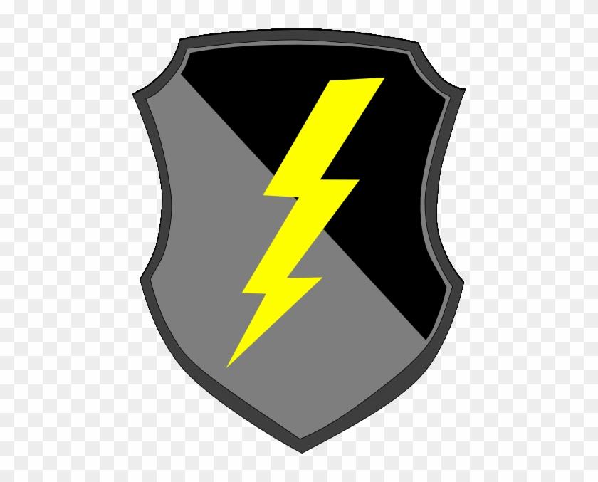 Shield With Lightning Bolt #64830