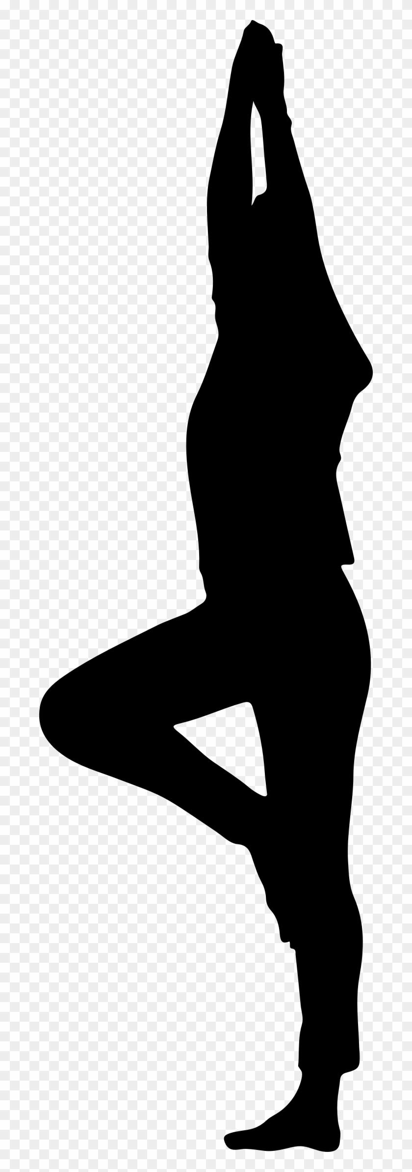 Yoga Pose Minus Ground Silhouette - Prenatal Yoga Clipart #64846