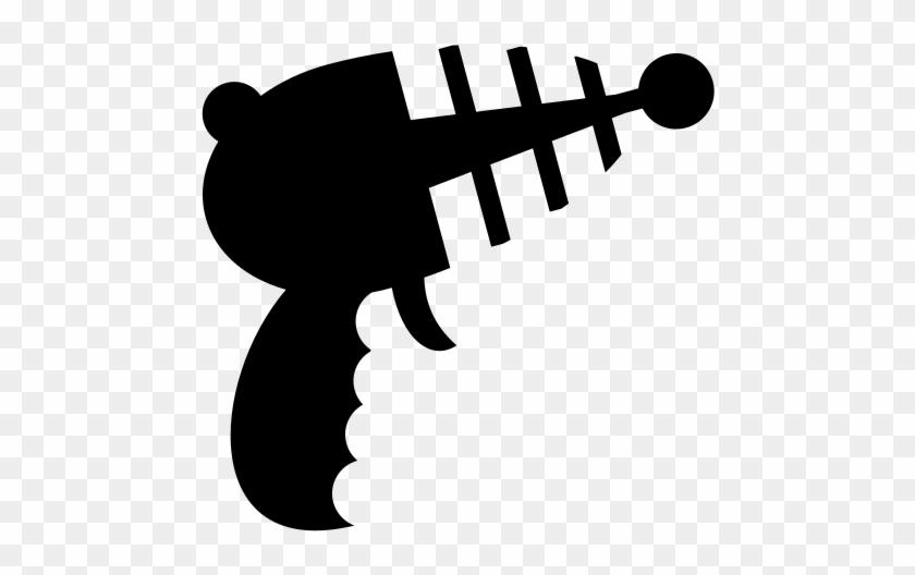 Lightning Bolt Clipart Black And White - Pistola Icon #64965