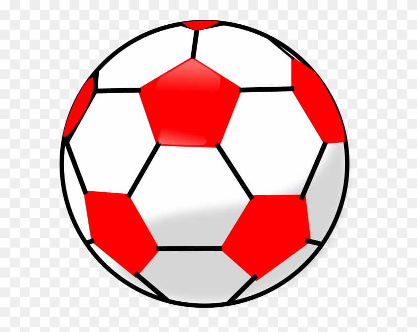 Red And White Soccer Ball #65037