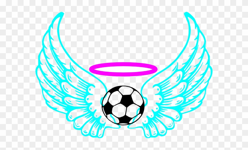 Blue Winged Soccer Ball Clip Art - Draw A Soccer Ball With Flames