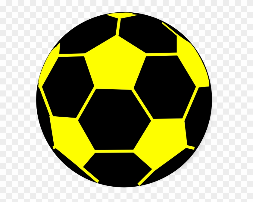 Ball Clipart Yellow - Black And Yellow Soccer Ball #65098