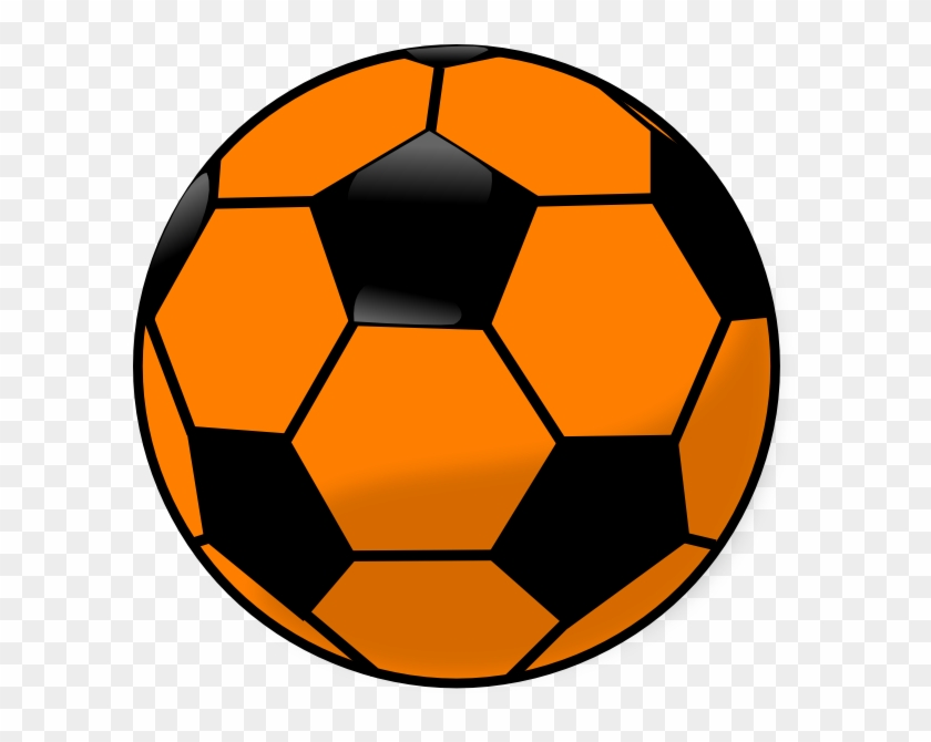 Strikers - Orange And Black Soccer Ball #65165