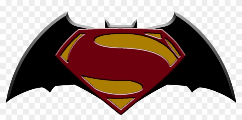 Superman's First Logo By Strongcactus On Clipart Library - Logo Superman Vs Batman Png #65193