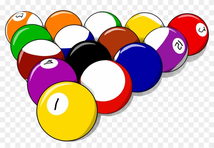 Balls - Pool Table Clip Art #65207