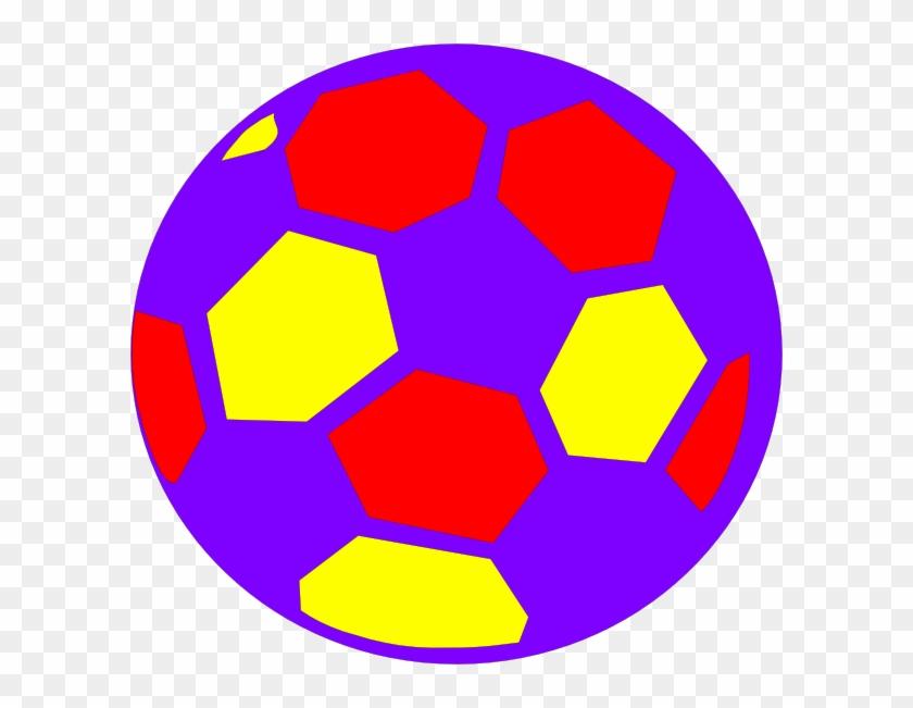 Multicolored Soccerball Clip Art - Warren Street Tube Station #65209