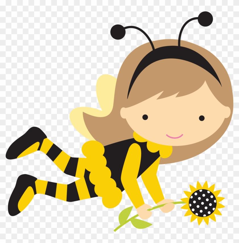 Menina Abelha - Pesquisa Google - Bumble Bee Girl Clipart #65342
