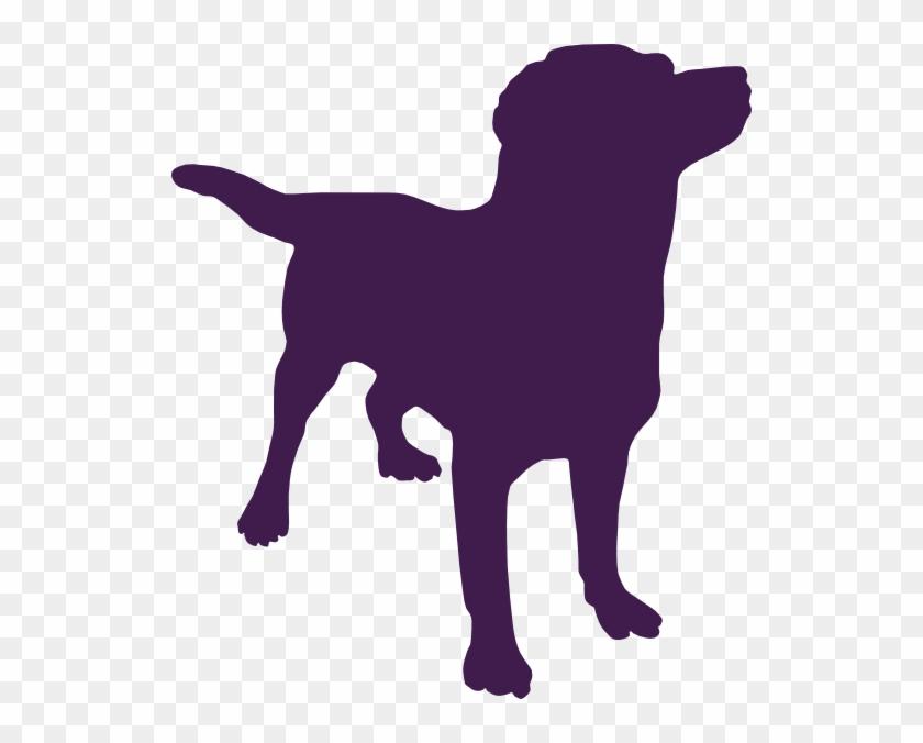 Purpledog Silhouette Clip Art - Dog Silhouette Clipart #65341