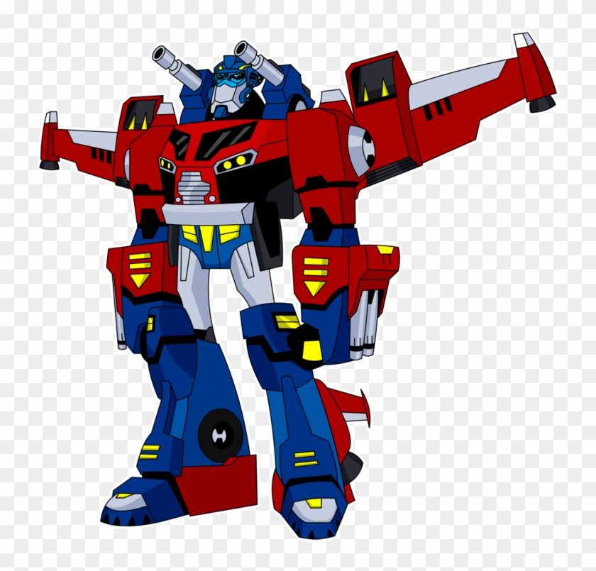 Transformers Clipart Optimus Prime Pencil And In Color - Transformers Animated Optimus Prime Super Mode #65507