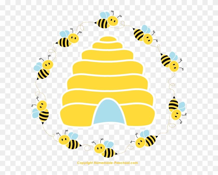 Honey Bee Beehive Queen Bee Clip Art - Honey Bee Beehive Queen Bee Clip Art #65514