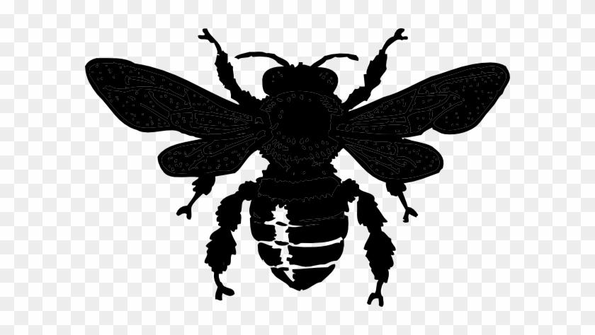 Bee Black Clip Art #65531