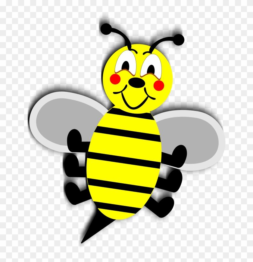Free Stock Photos - Black Yellow Animation Cartoon Bee Illustration Large #65534