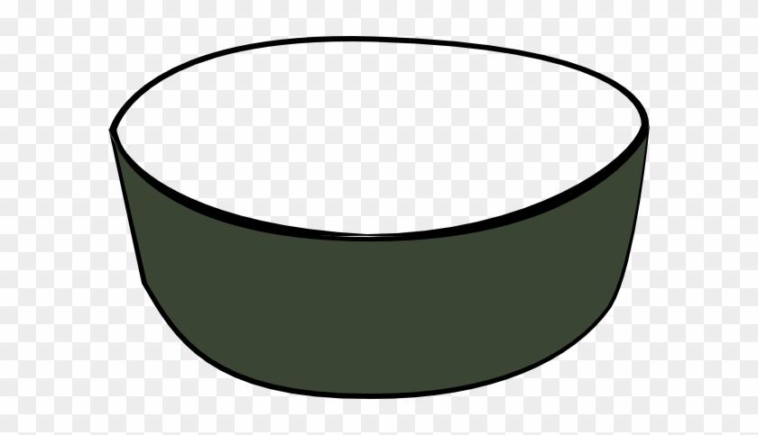 Clipart Cat Dish Green Empty Pet Clip Art At Clker - Empty Dog Bowl Cartoon #65535