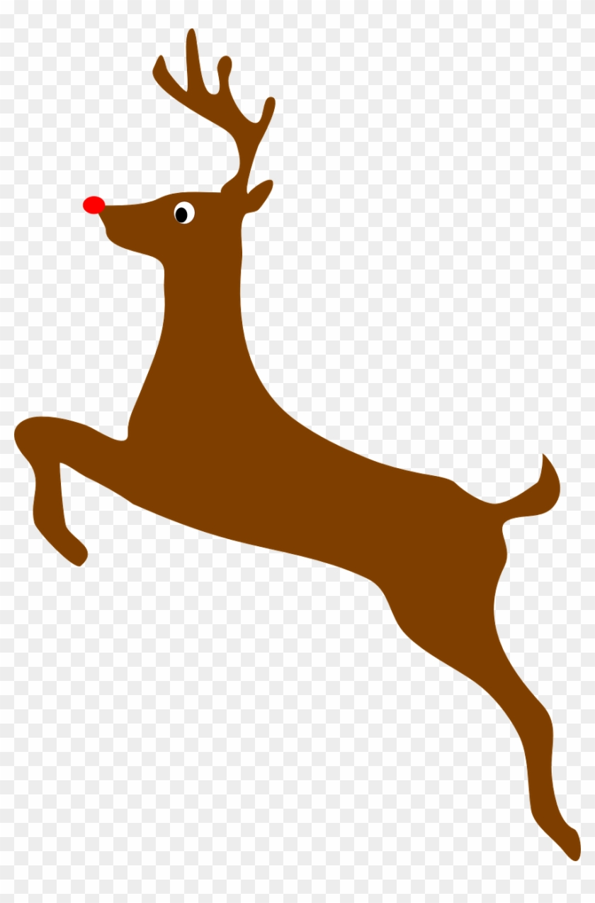 Silhouette Profile Clipart Rudolph Red Nosed Reindeer - Deer Clip Art #65544