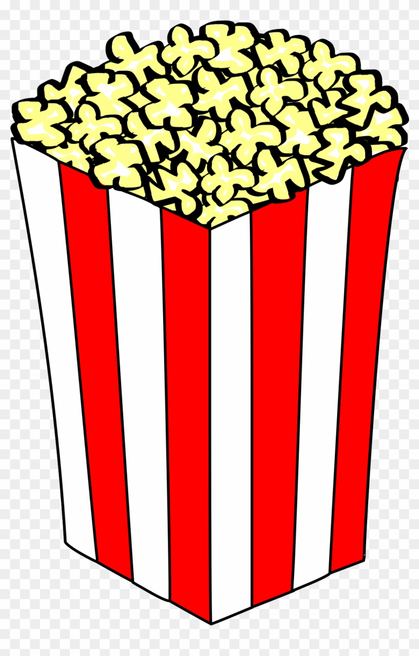 Clipart Of Popcorn Panda Free Images - Popcorn In A Box #65556