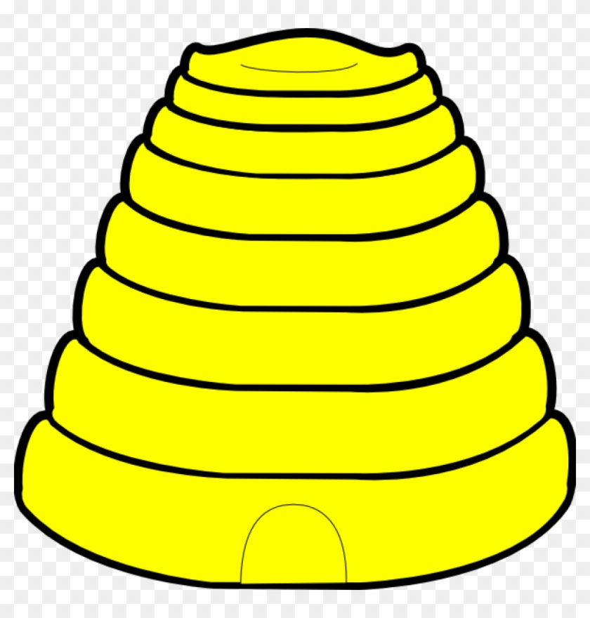 Hive Clip Art - Bee Hive Coloring Page #65579