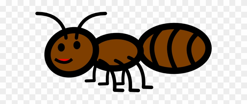 Ant Clip Art Free Vector 4vector - Brown Ant Clipart #65589